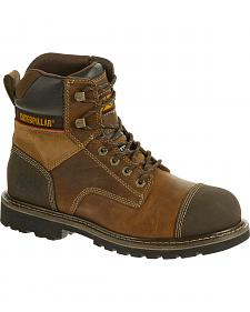 "Caterpillar Traction 6"" Work Boots - Steel Toe"