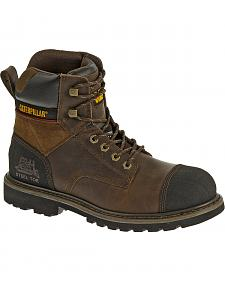 "Caterpillar Traction 6"" Work Boots - Steel Toe"