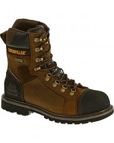 "Caterpillar Tracklayer 8"" Work Boots - Steel Toe"