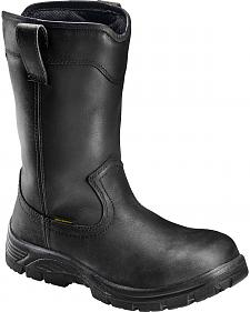 Avenger Men's Black Waterproof Wellington Work Boots - Composition Toe