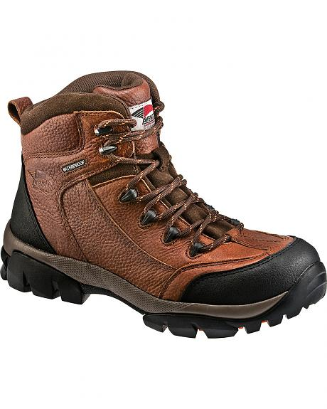 Avenger Men's Brown Waterproof Breathable Work Boots - Composition Toe