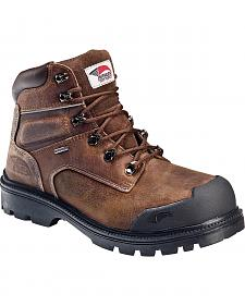 Avenger Men's Brown Waterproof Breathable Work Boots - Steel Toe