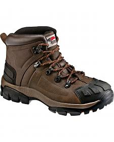 Avenger Men's Brown Crazy Horse Leather Work Boots - Steel Toe