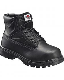 Avenger Men's Black Work Boots - Steel Toe