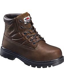 Avenger Men's Brown Work Boots - Steel Toe