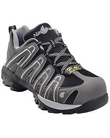 Nautilus Men's Grey Static Dissipative Work Shoes - Composition Toe