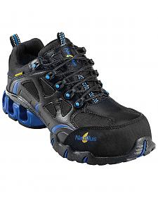 Nautilus Men's Black Nylon Microfiber Athletic Work Shoes - Composition Toe