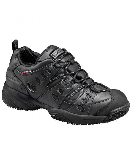 SkidBuster Men's Non-Slip Waterproof Leather Work Shoes