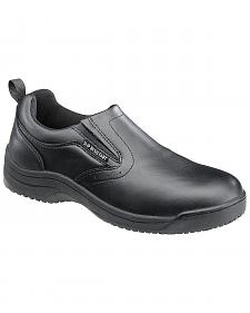 SkidBuster Men's Non-Slip Slip-On Leather Work Shoes