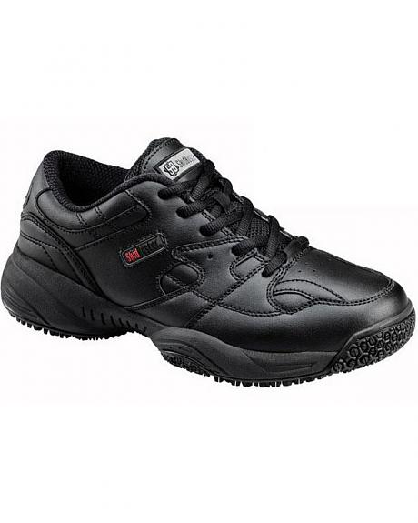 SkidBuster Women's Water-Resistant Lace-Up Work Shoes