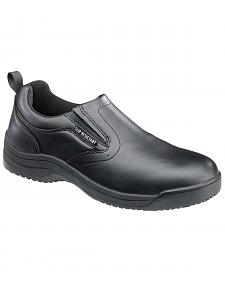 SkidBuster Women's Black Slip-On Work Shoes