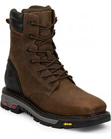 Justin Original Commander X5 Lace-Up Waterproof Boots - Steel Toe