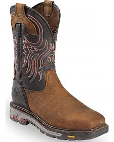 Justin JOW Men's Commander X5 Pull-On Work Boots - Steel Toe