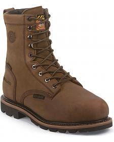 "Justin Men's Worker II Wyoming Internal Met Guard Waterproof 8"" Boots - Composite Toe"