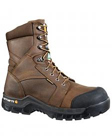 "Carhartt Men's 8"" Rugged Flex Waterproof Insulated Composite Toe Work Boots"