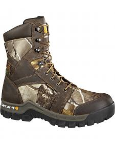 "Carhartt Men's 8"" Rugged Flex Waterproof Insulated Composite Toe Camo Work Boots"