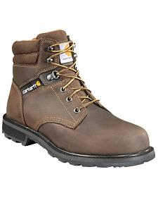 "Carhartt Men's 6"" Lace-Up Work Boots - Steel Toe"