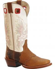Double H Buckaroo Cowboy Boots - Square Toe