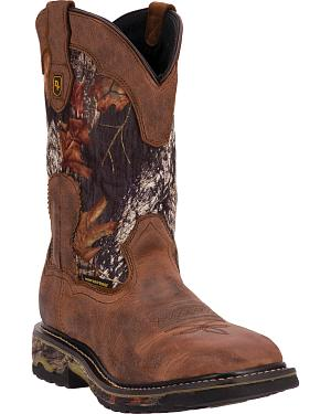 Dan Post Hunter Waterproof Camo Work Boots - Steel Toe