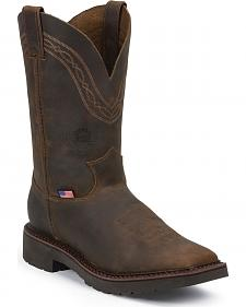 Justin Original Workboots Men's Crazyhorse J-Max Caliber Work Boots - Steel Toe