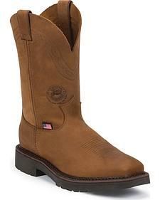 Justin Original Workboots Men's Crazyhorse J-Max Caliber Work Boots - Steel Toe