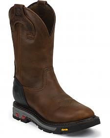 Justin Original Workboots Men's Waterproof Wyoming Work Boots - Round Toe