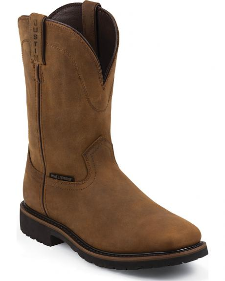 Justin Original Work Boots Men's Worker Boots - Square Toe