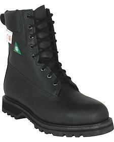 Boulet Everest Black Lace-Up Work Boots - Steel Toe