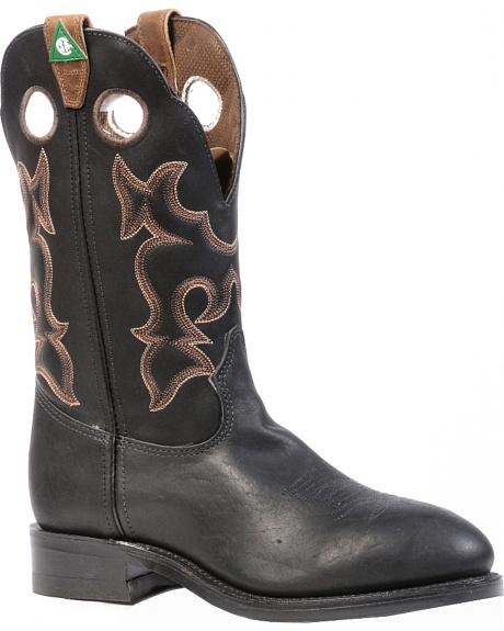 Boulet Everest Black Western Work Boots - Steel Toe