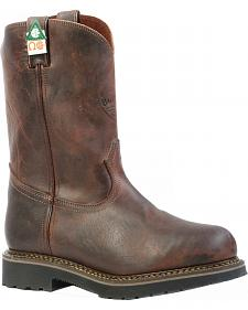 Boulet Laid Back Copper Western Work Boots - Steel Toe