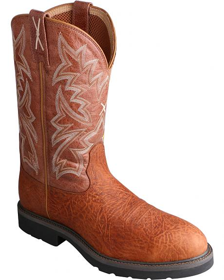 Twisted X Men's Cowboy Work Pull-On Boots - Steel Toe