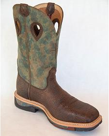 Twisted X Camo Lite Cowboy Work Boots - Square Toe