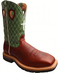 Twisted X Lime Lite Cowboy Work Boots - Composite Toe