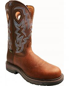 Twisted X Pebble Brown Lite Weight Cowboy Work Boots - Composite Toe