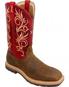 Twisted X Red Lite Cowgirl Work Boots - Steel Toe