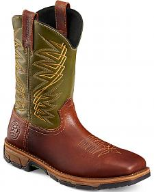 Red Wing Irish Setter Men's Green Marshall Work Boots - Steel Toe