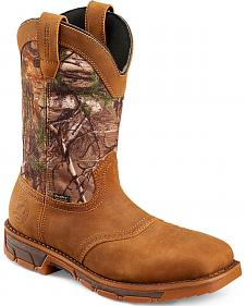 Red Wing Irish Setter Marshall RealTree Camo Work Boots - Steel Toe
