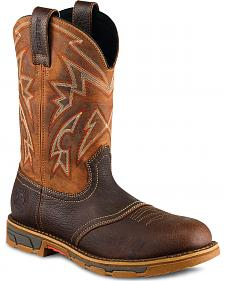 Red Wing Irish Setter Marshall Western Work Boots - Steel Toe