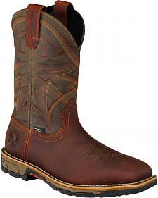 Red Wing Irish Setter Marshall Brown Work Boots - Steel Toe