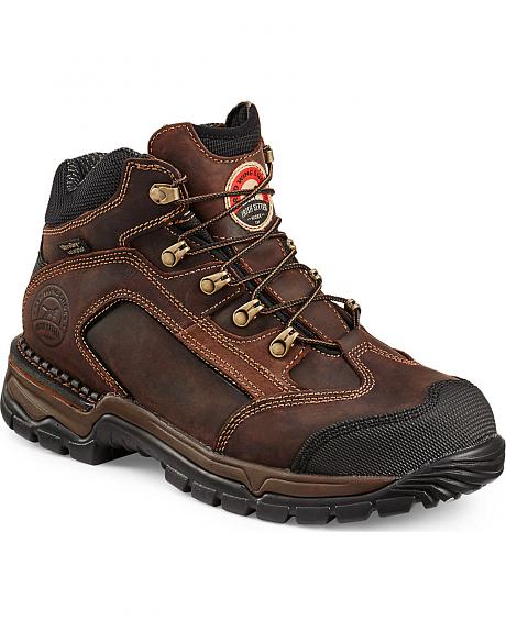 Red Wing Irish Setter Two Harbors Lace-Up Hiker Work Boots - Steel Toe
