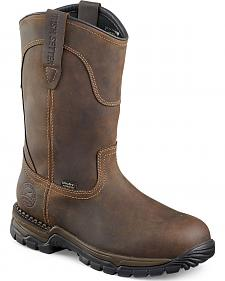 Red Wing Irish Setter Two Harbors Pull-On Work Boots - Steel Toe