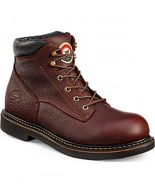 Red Wing Irish Setter Brown Farmington Work Boots - Aluminum Toe