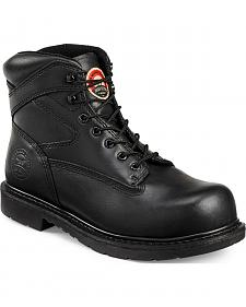 Red Wing Irish Setter Black Farmington Work Boots - Steel Toe
