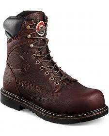 Red Wing Irish Setter Farmington Lace-Up Work Boots- Steel Toe