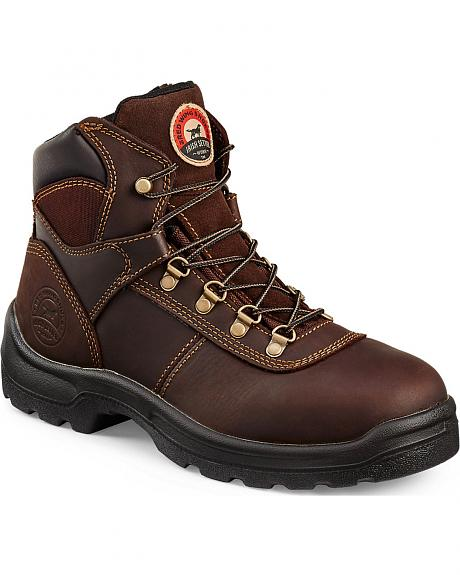Red Wing Irish Setter Brown Ely Hiker Work Boots - Steel Toe