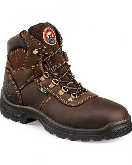 Red Wing Irish Setter Ely Brown Hiker Work Boots - Steel Toe