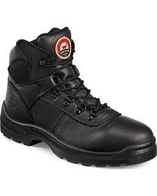 Red Wing Irish Setter Ely Black Hiker Work Boots - Steel Toe