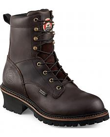 Red Wing Irish Setter Mesabi Logger Work Boots - Steel Toe