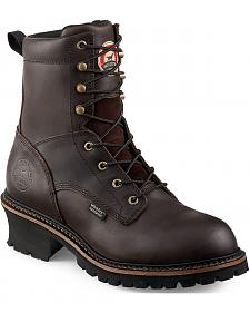Red Wing Irish Setter Mesabi Dark Brown Insulated Logger Work Boots - Steel Toe