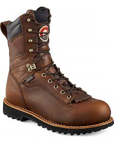 Red Wing Irish Setter Mesabi Logger Work Boots - Aluminum Toe